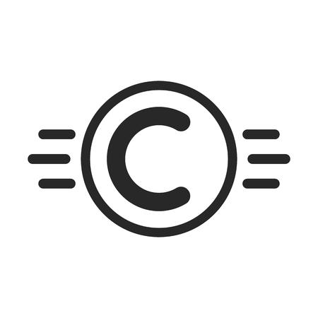 Copyright symbol like intellectual property Vektoros illusztráció