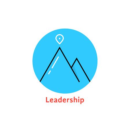 round blue leadership logo