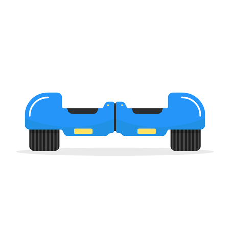 blue hoverboard with shadow