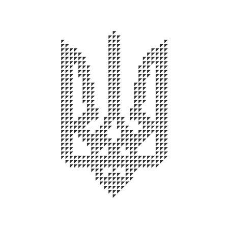 black emblem of ukraine from triangles