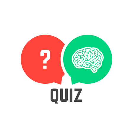 Question mark et cerveau comme illustration vectorielle de quiz Banque d'images - 84140950