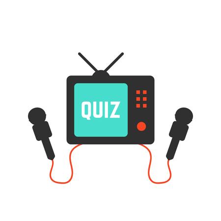 quiz on tv icon Illustration