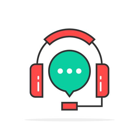 hotline: green red outline hotline logo Illustration