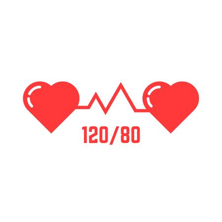 simple blood pressure icon Illustration