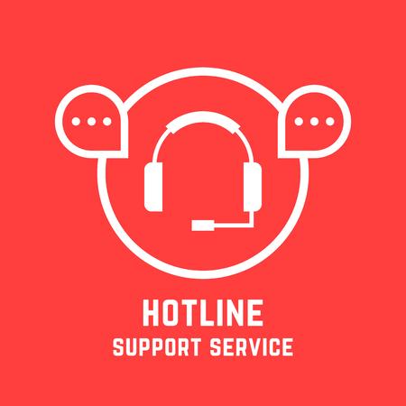 mobile app: hotline support service mark