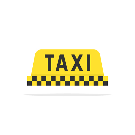 simple color taxi sign