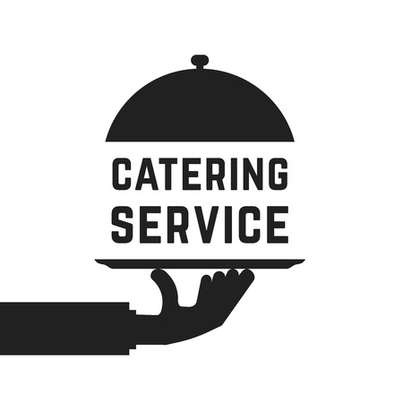 Black catering service emblem Illustration