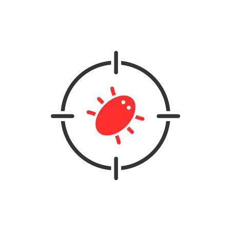 ターゲットの赤バグ