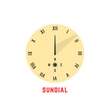 icône de cadran solaire simple jaune