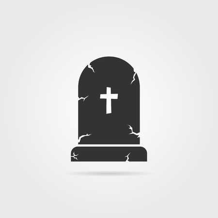 black tombstone with shadow