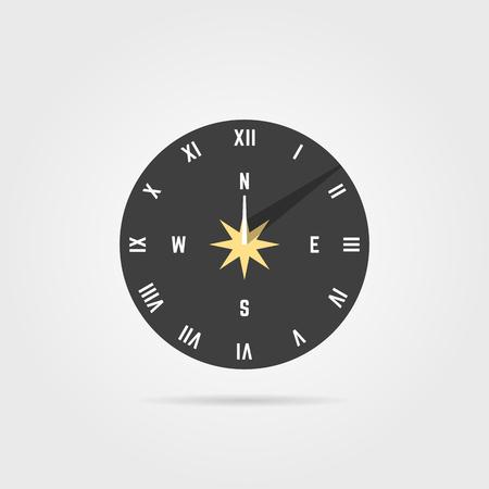 simple icône de cadran solaire avec ombre