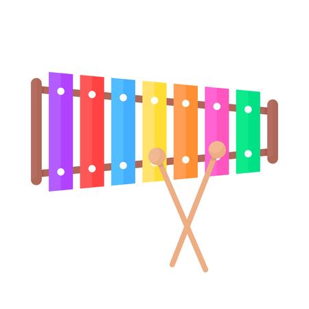 Icona del giocattolo xilofono semplice. Vettoriali