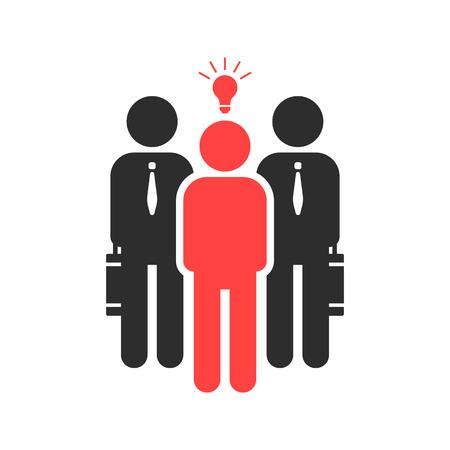 startuper、投資家の資金が好きです。信用、資本の寄託者、営利販売、電球、先生、機会、スポンサーの概念。白い背景の上フラット スタイル傾向黒