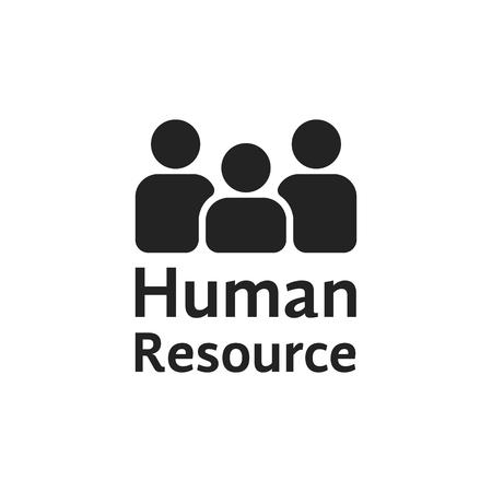 black simple human resource logo