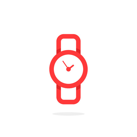 red linear wristwatch icon