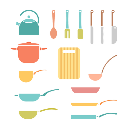 color set of cookware