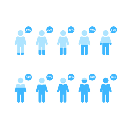human infographic with percentage people