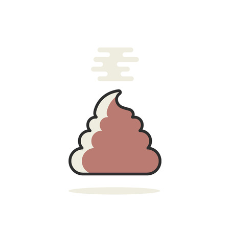 simple linear pile of shit icon Illustration