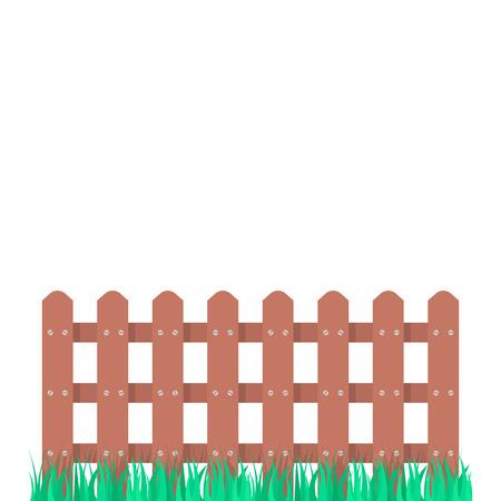houten omheiningstuin met groen gras