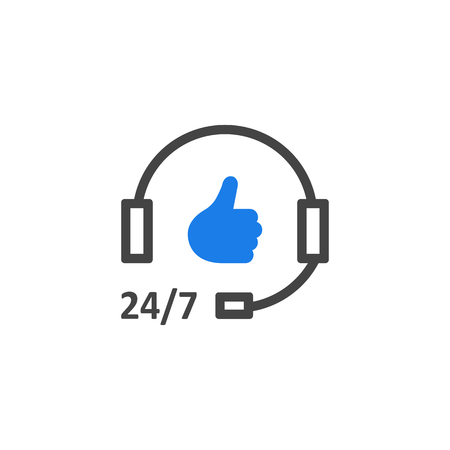 Simple hotline support icon like good service. Illusztráció