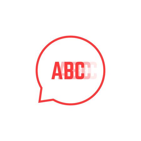 Red stuttering like speech bubble. Illustration