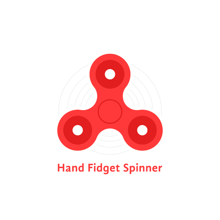 Red hand fidget spinner icon.