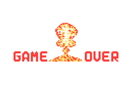 Game over banner.