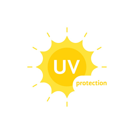 Yellow uv protection symbol. Illustration