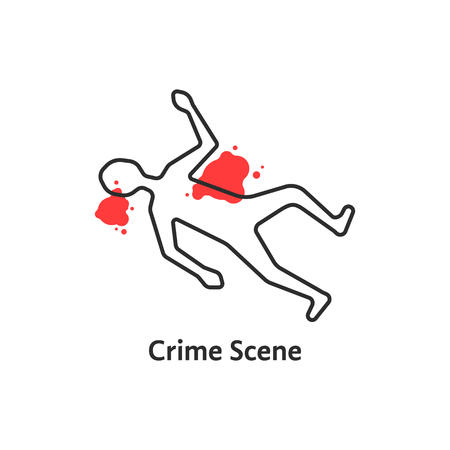 Crime scene icon. Illustration