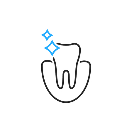 Clean tooth icon. Vectores
