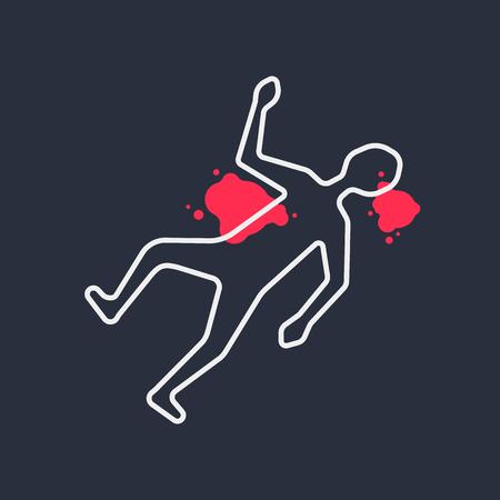 Crime scene icon. Illustration
