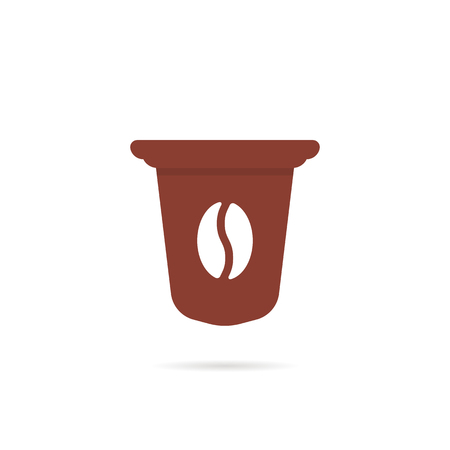 brown simple coffee capsule icon