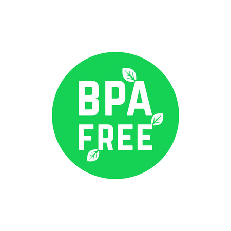 Green simple BPA free logo on white
