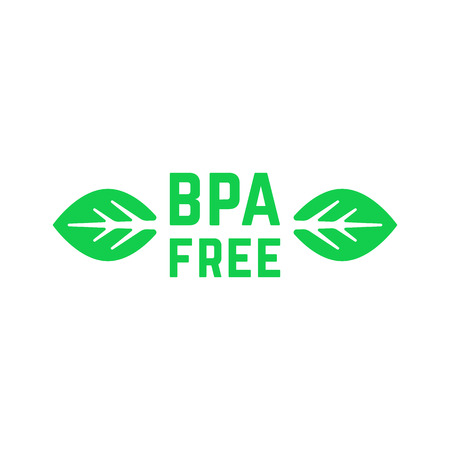 simple green bpa free logo with leafs