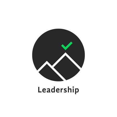 Round simple leadership logo isolated on white