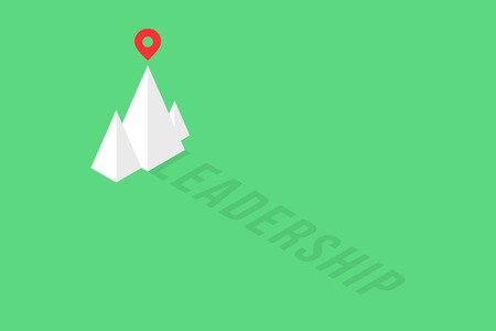 summit of isometric mountain like leadership logo