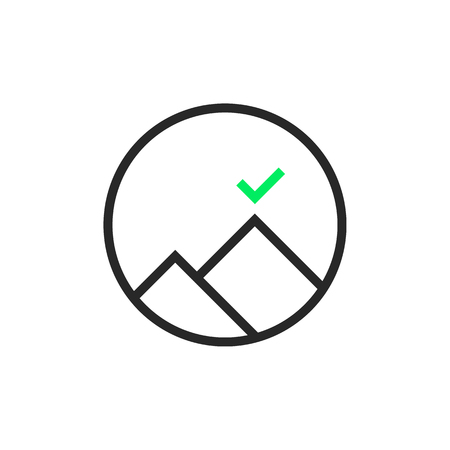 black thin line round leadership logo