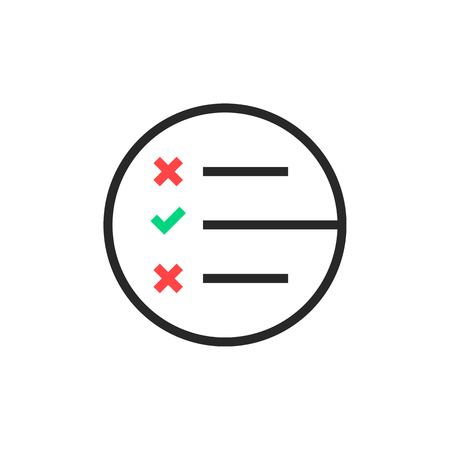 black thin line questionnaire round logo