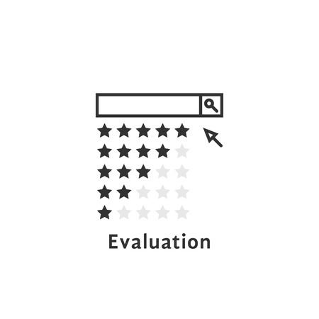 simple evaluation like review or searching Illustration