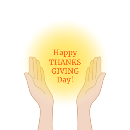 happy thanksgiving day with prayer hands