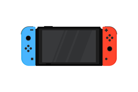 switch with wireless controllers joy-con 免版税图像 - 106450309