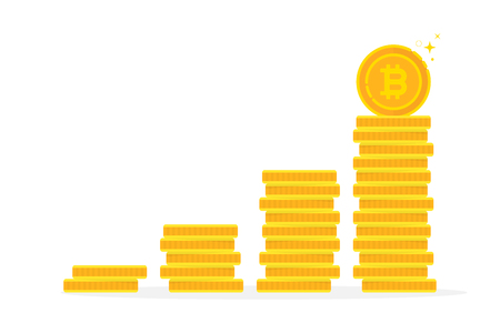 bitcoin benefits like gold coin stack