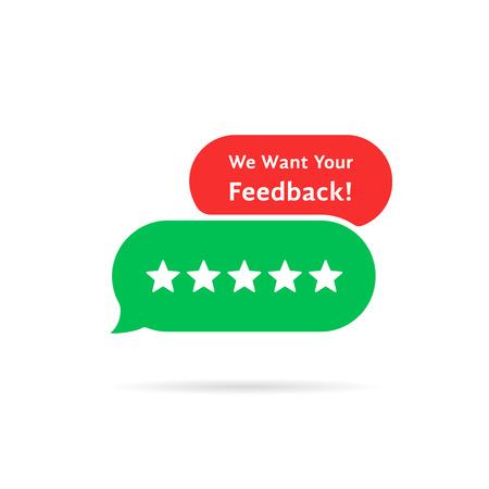 cartoon speech bubble we want your feedback
