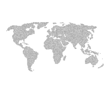 infographic element with grey global world map