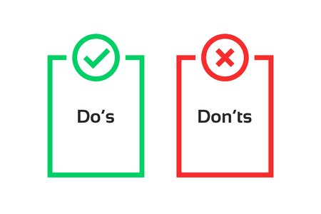 simple dos and donts like checklist