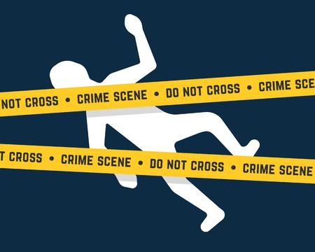 cadáver blanco como la escena del crimen