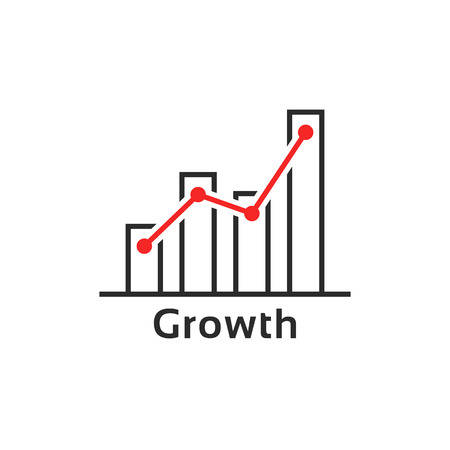 simple thin line growth logo like success Illustration