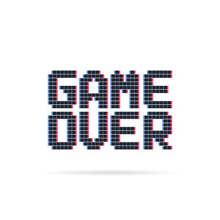 juego sobre logo como glitch estilo pixel art Logos