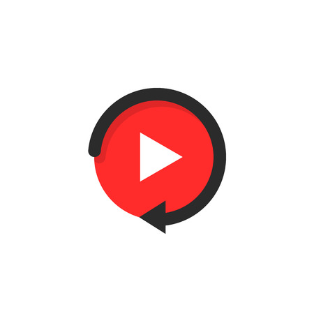 replay icon like video play button Stock Photo
