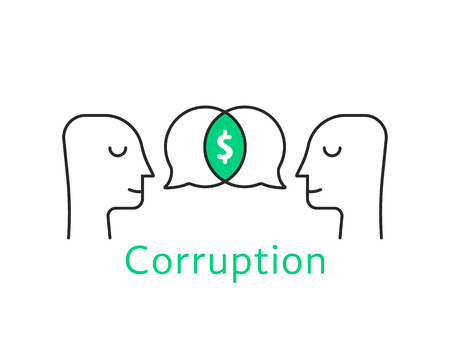 corruption between two thin line person
